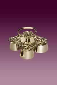 Dzwonek kościelny D 169 mosiężny